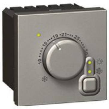 Electronic room thermostat Arteor - 2 modules - magnesium