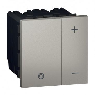 Push-button dimmer Arteor - universal 2-wire - 2 square modules - magnesium
