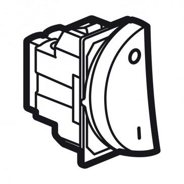 Double pole switch Arteor 20 AX 250 V~ - round - 1 left modules - magnesium