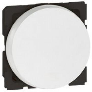 1-way switch Arteor - 10 AX 250 V~ - round - 2 modules - white