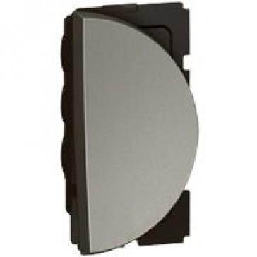 1-way push-button Arteor - round - 1 right modules - magnesium