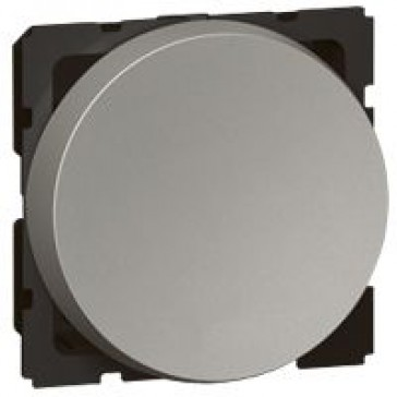 2-way push-button Arteor - 2 round modules - magnesium