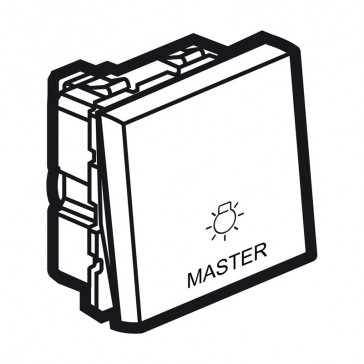 Master push-button Arteor for lighting control - 2 modules - magnesium