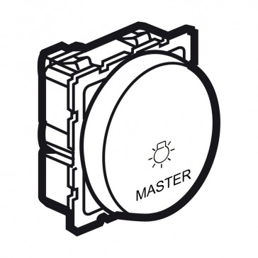 Master push-button Arteor - lighting control - 2 round modules - white