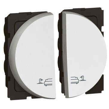 Switch for bed lights Arteor - lighting control - 2 x 1 round modules - white