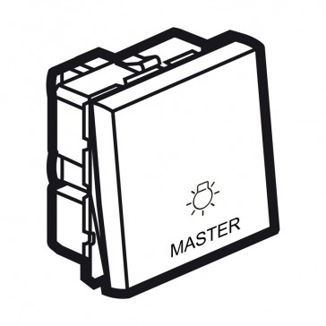 Master switch Arteor for lighting control - 2 modules - magnesium