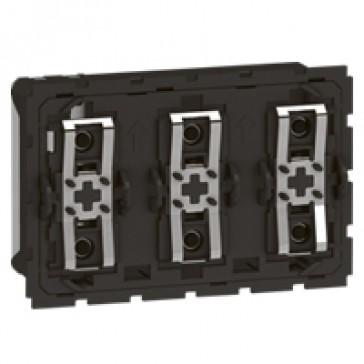 BUS micropush basic control mechanism Arteor - 3 modules