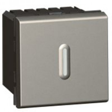 Time delay switch Arteor - with LED - 2 modules - magnesium