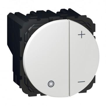 Push-button dimmer Arteor - for ballast 0-10 V - 2 round modules - white