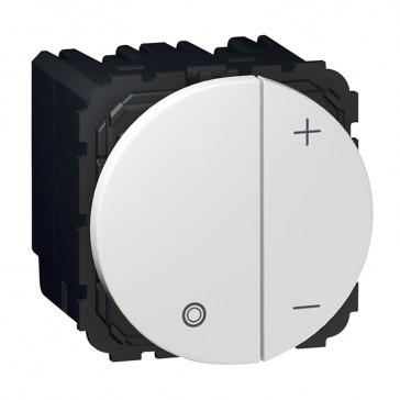 Push-button dimmer Arteor - universal 2-wire - 2 round modules - white