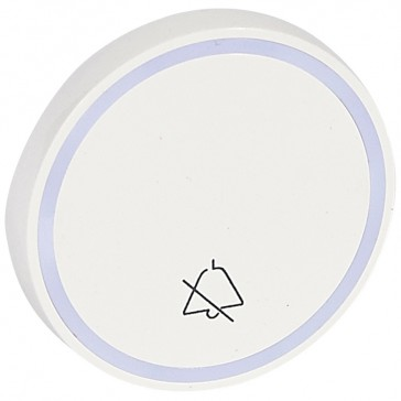 Round key cover Arteor - with symbol DO NOT DISTURB - white - 2 modules