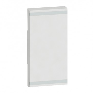 Square key cover Arteor BUS/SCS - without marking - 1 module - white