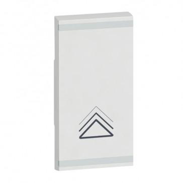 Square key cover Arteor BUS/SCS - dimmer symbol - 1 module - white