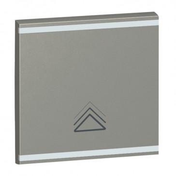 Square key cover Arteor BUS/SCS - dimmer symbol - 2 modules - magnesium
