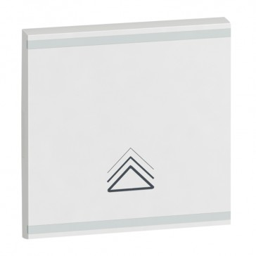 Square key cover Arteor BUS/SCS - dimmer symbol - 2 modules - white