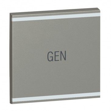 Square key cover Arteor BUS/SCS - GEN marking - 2 modules - magnesium