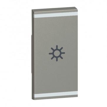 Square key cover Arteor BUS/SCS - light symbol - 1 module - magnesium