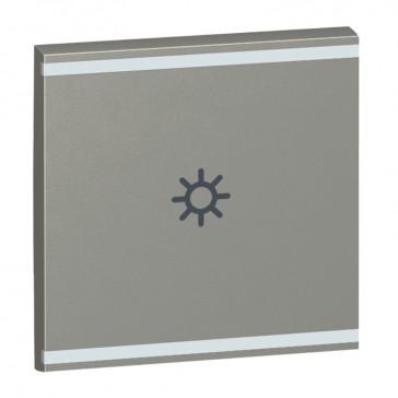 Square key cover Arteor BUS/SCS - light symbol - 2 modules - magnesium