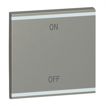 Square key cover Arteor BUS/SCS - ON/OFF - 2 modules - magnesium