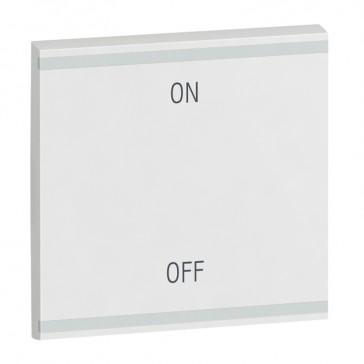 Square key cover Arteor BUS/SCS - ON/OFF - 2 modules - white