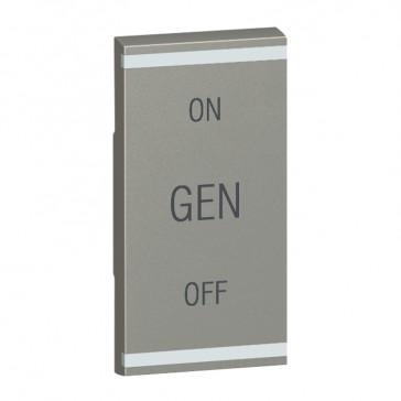 Square key cover Arteor BUS/SCS - GEN/ON/OFF - 1 module - magnesium