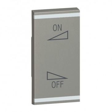 Square key cover Arteor BUS/SCS - regulation symbol - 1 module - magnesium