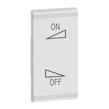 Square key cover Arteor BUS/SCS - regulation symbol - 1 module - white