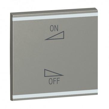 Square key cover Arteor BUS/SCS - regulation symbol - 2 modules - magnesium