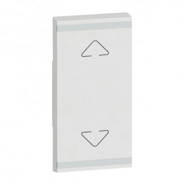 Square key cover Arteor BUS/SCS - Up/Down symbol - 1 module - white