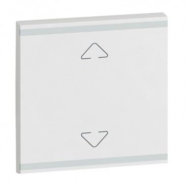 Square key cover Arteor BUS/SCS - Up/Down symbol - 2 modules - white