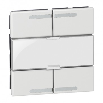 Scenario controller BUS/SCS Arteor - square key cover - white - 2 modules