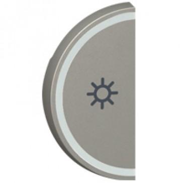 Round key cover Arteor BUS/SCS - light symbol - 1 module - magnesium