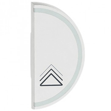 Round key cover Arteor BUS/SCS - dimmer symbol - 1 module right-hand - white