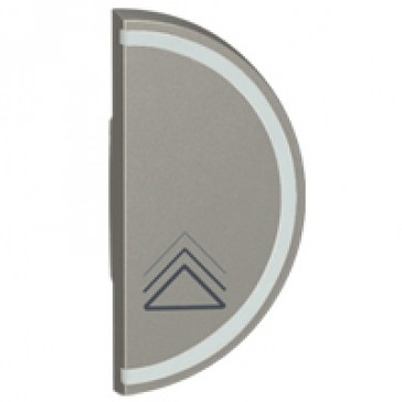 Round key cover Arteor BUS/SCS - dimmer symbol - 1 module right-hand - magnesium