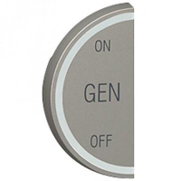 Round key cover Arteor BUS/SCS - GEN/ON/OFF - 1 module left-hand - magnesium