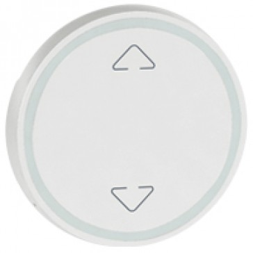 Round key cover Arteor BUS/SCS - Up/Down symbol - 2 modules - white