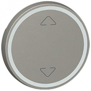 Round key cover Arteor BUS/SCS - Up/Down symbol - 2 modules - magnesium