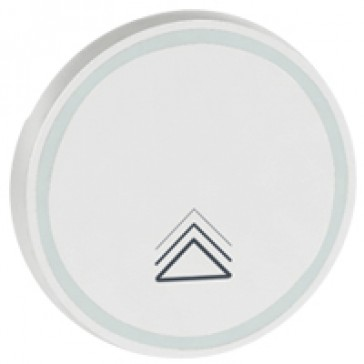 Round key cover Arteor BUS/SCS - dimmer symbol - 2 modules - white
