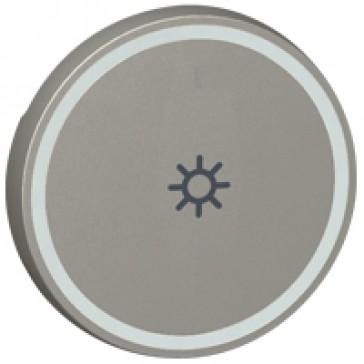 Round key cover Arteor BUS/SCS - light symbol - 2 modules - magnesium