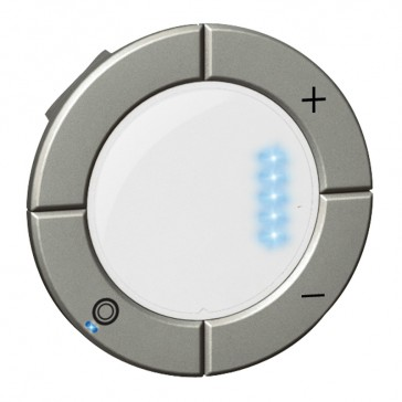 Round key cover Arteor Radio/ZigBee - for dimmer with bargraph - white