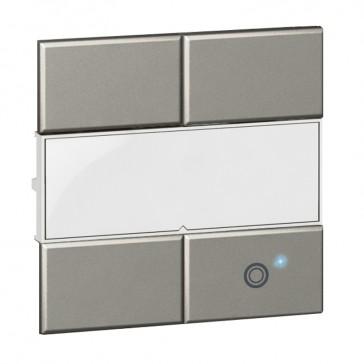 Square key cover Arteor Radio/ZigBee - for lighting switch 1 circuit - white