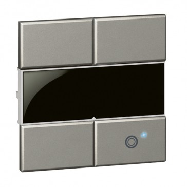 Square key cover Arteor Radio/ZigBee - for lighting switch 1 circuit - magnesium