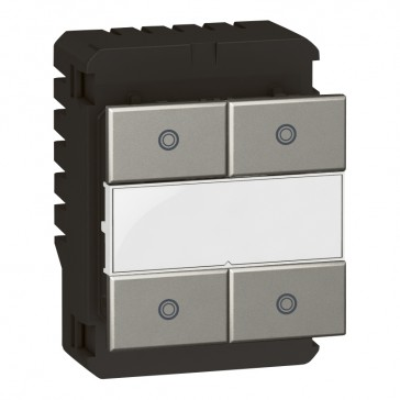Square key cover Arteor Radio/ZigBee - for 4-scenario controller - white