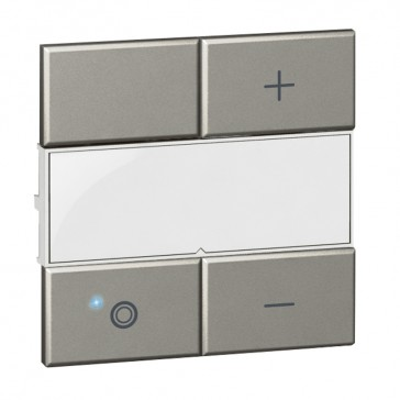 Square key cover Arteor Radio/ZigBee - for dimmer - white