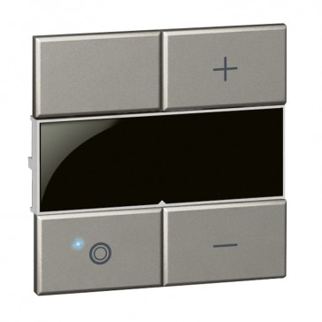 Square key cover Arteor Radio/ZigBee - for dimmer - magnesium