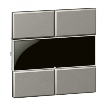 Square false key cover Arteor Radio/ZigBee - magnesium