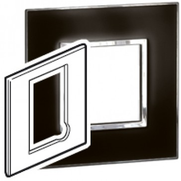 Plate Arteor - BS - square - for fused connection units - mirror black