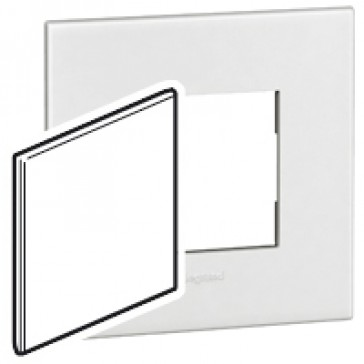 BS blanking cover plate Arteor - for 1-gang box - white