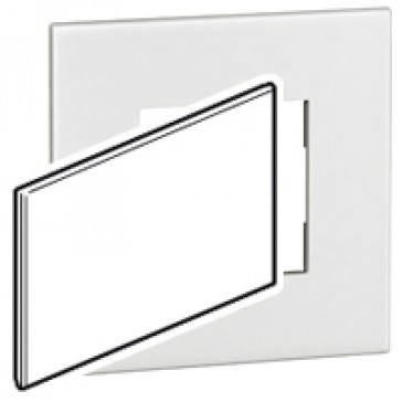 BS blanking cover plate Arteor - for 2-gang box - white