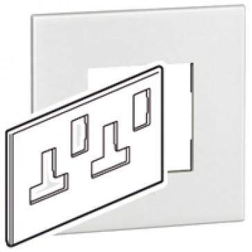 Plate Arteor - BS - square - for cooker control unit - graphite